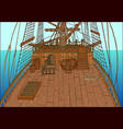 background with deck of sailing ship vector image