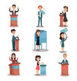 elections and voting set political candidates and vector image