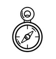 Line compass to know the direction of exploration vector image