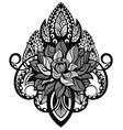 lotus tattoo mandala vector image