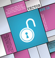 open lock icon sign Modern flat style for your vector image