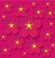 paper flowers burgundy background vector image