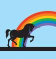 rainbow unicorn design vector image