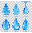 Set of transparent drops vector image