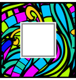 Stained-Glass Abstract Frame vector image