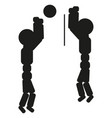 volleyball players are playing sign vector image