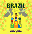 Abstract brazil and rio winners podium design with vector image