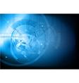 tech background blue dark vector image vector image