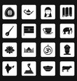 india travel icons set squares vector image