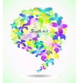 Butterfly glossy speech icons vector image vector image