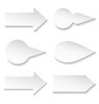 set of paper arrows vector image vector image