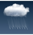Cloud with rain drops vector image vector image