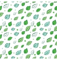 Green Leaves Diagonal Seamless Pattern vector image