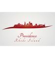 Providence skyline in red vector image