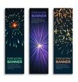 Fireworks vertical banners set vector image vector image