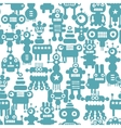 Seamless pattern with cute monsters and robots vector image vector image