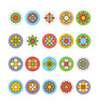 Flowers and Floral Colored Icons 1 vector image