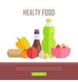 Healthy Food Concept Web Banner vector image