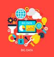 big data flat concept vector image