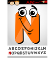 funny letter n cartoon vector image