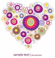 heart made from many various flowers vector illust vector image