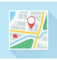Map with Location Mark Flat Icon vector image