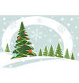 snowy christmas firtree vector image vector image