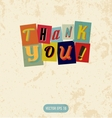 Thank you sign in retro doodle style vector image vector image