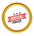 Special price ribbon icon vector image vector image