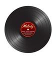 Vinyl LP record disc Black musical vinyl album vector image