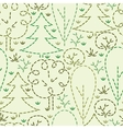 Embroidered forest seamless pattern background vector image vector image