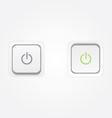 On Off Power buttons vector image