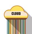 cloud symbol flat design vector image vector image