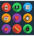 Fitness tracker flat icons vector image vector image