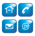 internet icons vector image vector image
