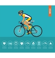 Cyclist on the sports bike Bicycle vector image