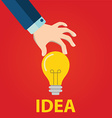 Great Idea Concept in flat style vector image