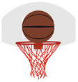 Grey basketball basket and hoop vector image