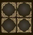 set of decorative golden frames vector image