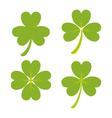 Set of green shamrock symbols and icon vector image