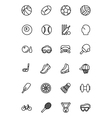 Sports Line Icons 1 vector image