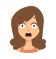 Women scary face vector image