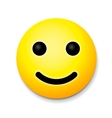 Yellow laughing happy smile emoji smile symbol vector image