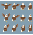 Set of flat eagle icons vector image