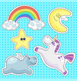 good night isolated elements vector image