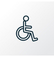 handicapped outline symbol premium quality vector image