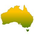 Silhouette of Australia vector image