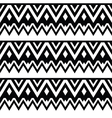 Aztec seamless pattern tribal black and white vector image