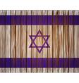 grunge israel flag Eps10 vector image