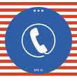 Telephone handset surrounded by a telephone cord - vector image
